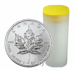 Roll of 25 2011 Canada 1 oz Silver Maple Leaf $5 GEM BU Coins